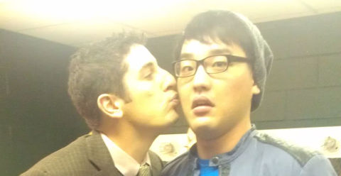 American Idol 2012 Heejun Han and Jason Biggs
