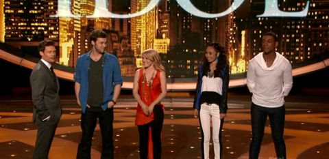 American Idol 2012 Top 4 results