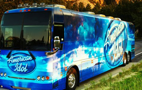 American Idol bus on tour