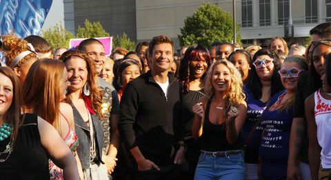 Ryan Seacrest and Haley Reinhart at Chicago auditions