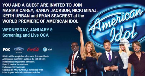 American Idol 2013 premiere party