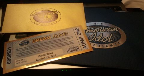 Devin Velez&#039;s American Idol ticket
