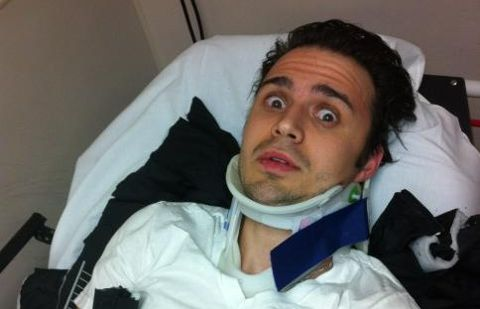 Kris Allen in car crash