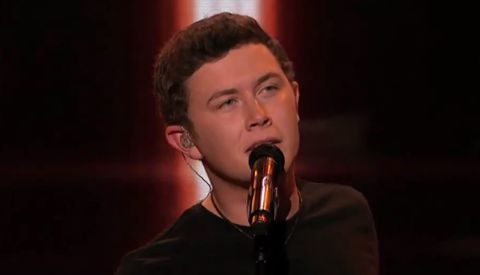 Scotty McCreery performs on American Idol
