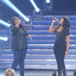 Candice performs with Jennifer Hudson