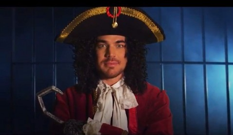 Adam Lambert as Captain Hook