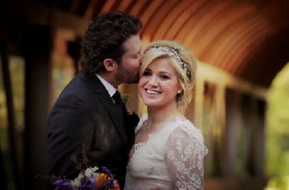 Kelly Clarkson and Brandon Blackstock - Source: Twitter