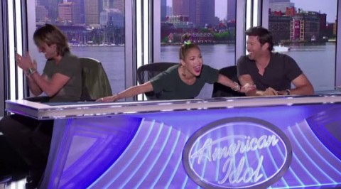 American Idol 2014 judges Keith Urban, Harry Connick Jr. and Jennifer Lopez - Source: FOX/YouTube