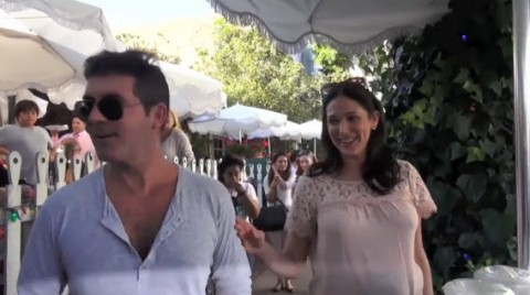 Simon Cowell and Lauren Silverman - Source: CelebrityBytes/AOL On Network