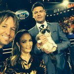 Grumpy Cat Poses With American Idol Judges