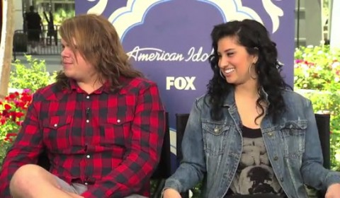 Caleb Johnson and Jena Irene American Idol