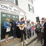 Alex Preston performs at the town hall