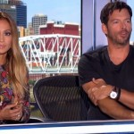 Jennifer Lopez and Harry Connick Jr on American Idol 2015