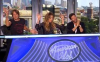 American Idol 2015 Judges celebrate a great audition