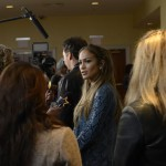 Jennifer Lopez & Harry Connick Jr talk with reporters