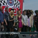 Top 11 AMERICAN IDOL contestants perform at the AUTO CLUB 400