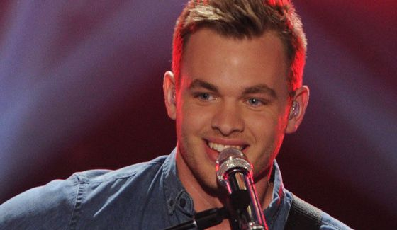 Clark Beckham performs on American Idol 2015