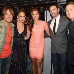Keith Urban, Jennifer Lopez Women's US Soccer players Alex Morgan, Harry Connick, Jr. and Women's US Soccer player Abby Wambach