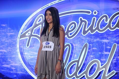 AMERICAN IDOL XV: Denver Auditions: AMERICAN IDOL will begin its 15th – and farewell – season with a special two-night, four-hour premiere event Wednesday, Jan. 6 (8:00-10:00 PM ET/PT) and Thursday, Jan. 7 (8:00-10:00 PM ET/PT) on FOX. AMERICAN IDOL XV continues on Wednesdays (8:00-9:00 PM ET/PT) and Thursdays (8:00-10:00 PM ET/PT). Pictured: Contestant Sonika Vaid auditions in front of the judges at AMERICAN IDOL XV. © 2016 Fox Broadcasting Co. Cr: Michael Becker / FOX.