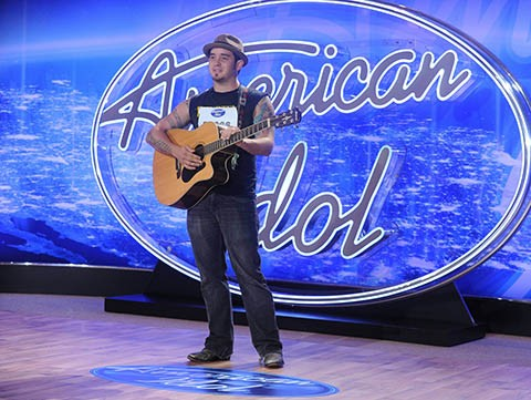 "AMERICAN IDOL: Chris ""C.J."" Johnson performs in front of the Judges on AMERICAN IDOL airing Thursday, Jan. 14 (8:00-10:00 PM ET/PT) on FOX. © 2016 Fox Broadcasting Co. CR: Ray Mickshaw / FOX."
