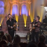 David Cook with contestant CJ Johnson