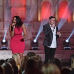 Jordin Sparks and contestant Trent Harmon