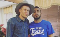 American Idol 2016 finalist Trent Harmon during hometown visit (FOX)