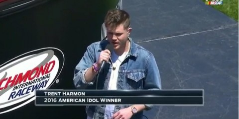American Idol winner Trent Harmon at NASCAR