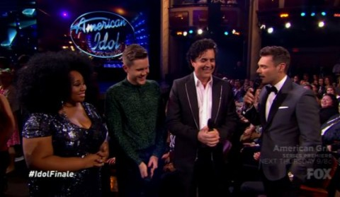 La'Porsha, Trent, Borchetta, and Ryan Seacrest on Idol Finale