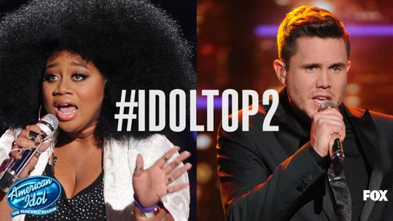 American Idol's final Top 2 with La'Porsha and Trent