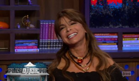 American Idol judge Paula Abdul on Watch What Happens Live (BRAVO)
